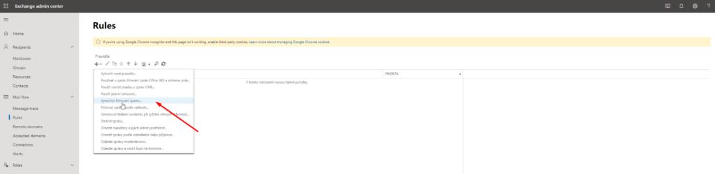 Vynechat filtrování spamu…