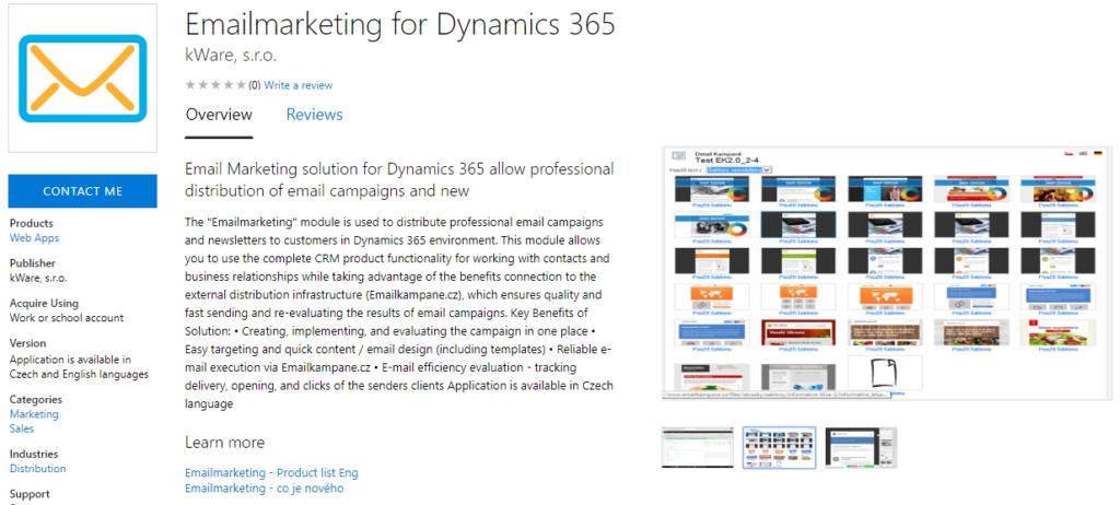 Emailmarketing for Dynamics 365