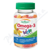 JAMIESON Omega-3 Kids Gummies želatin.pastil.60ks.