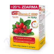 GS Vitamin C1000 se šípky tbl.100+20 2016.