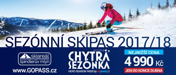 Nabídka na neomezené lyžování vprůběhu celé zimní sezóny 2017/18 je tu opět za 4.990 Kč!